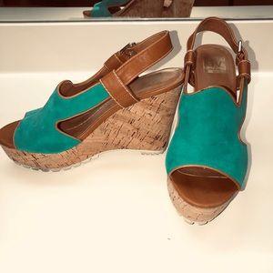 Wedge Sandals Aqua/ Turquoise